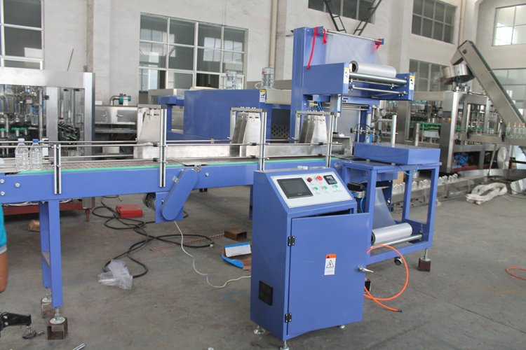 PLC Control Bottled Heat Shrink Wrapping Packing Machine